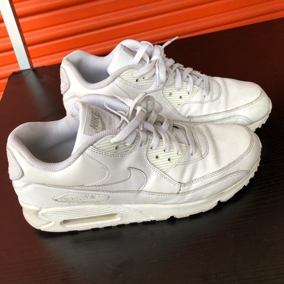 promo code d112b a6b1b MENS NIKE AIR MAX 90 LEATHER WHITE CLASSIC RETRO